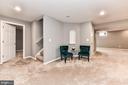 Finished basement provides addl entertaining space - 47426 RIVERBANK FOREST PL, STERLING