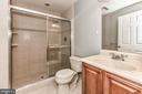 Full bath in finished basement - 47426 RIVERBANK FOREST PL, STERLING