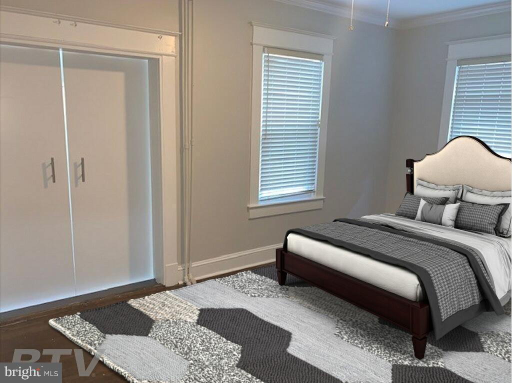 Virtually Staged Bedroom on main floor - 1307 LONGFELLOW ST NW, WASHINGTON