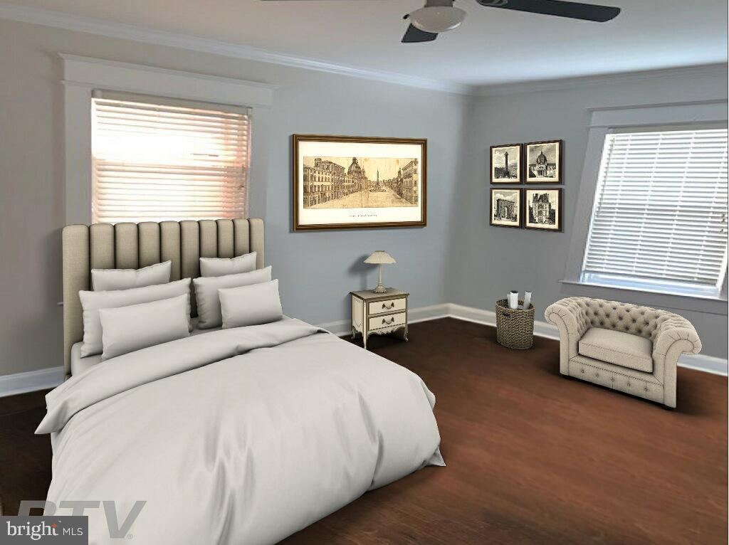 Virtually Staged Bedroom  2 on main floor - 1307 LONGFELLOW ST NW, WASHINGTON