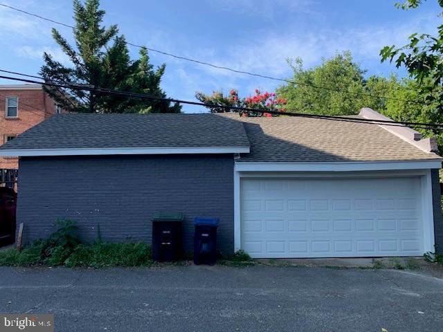 2 car garage - 1307 LONGFELLOW ST NW, WASHINGTON