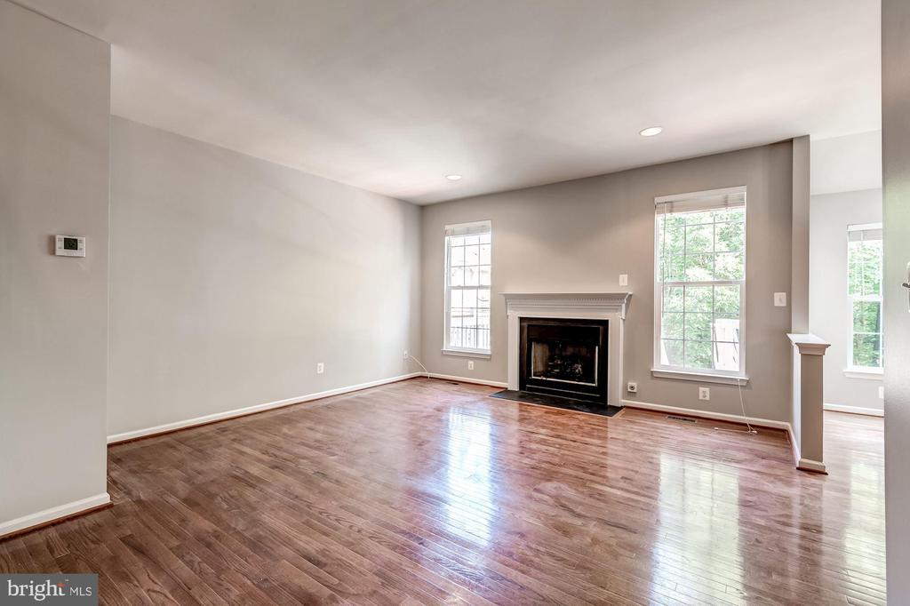 Family Room with fire place - 43214 SOMERSET HILLS TER, ASHBURN