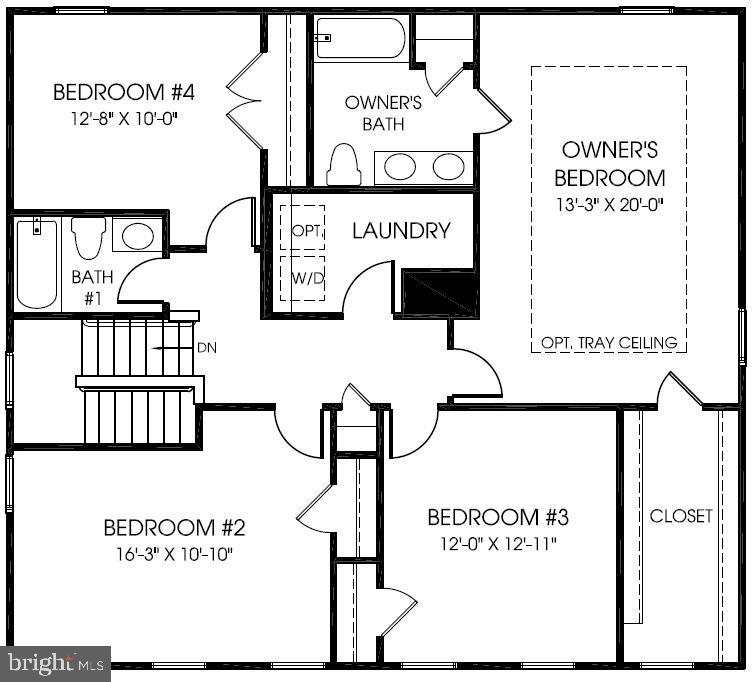 Bedroom Level Floor Plan - 20 EISENTOWN DR, LOVETTSVILLE