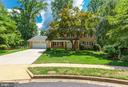 Lush landscaping and treed views views throughout - 7710 FALSTAFF CT, MCLEAN