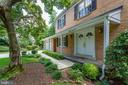 Covered front porch and double door entry - 7710 FALSTAFF CT, MCLEAN