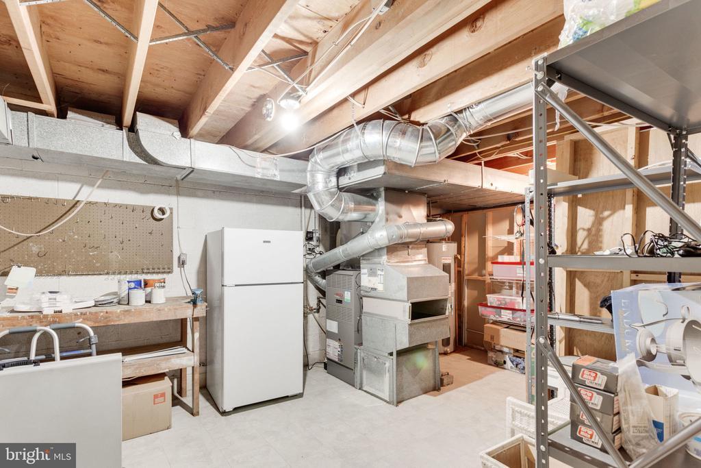 Storage/utility room w. shelving wk bench,refrig.. - 7710 FALSTAFF CT, MCLEAN