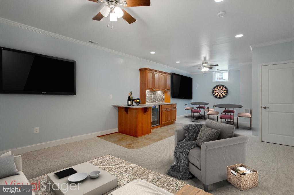 Lower level rec rom alternate view - furnished - 42461 TOURMALINE LN, BRAMBLETON