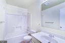 Full bath #3 on lower level - 108 GALAXIE DR, FREDERICKSBURG