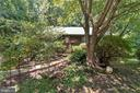 Wooded front walkway - 108 GALAXIE DR, FREDERICKSBURG