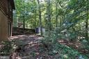 Backyard with storage shed - 108 GALAXIE DR, FREDERICKSBURG