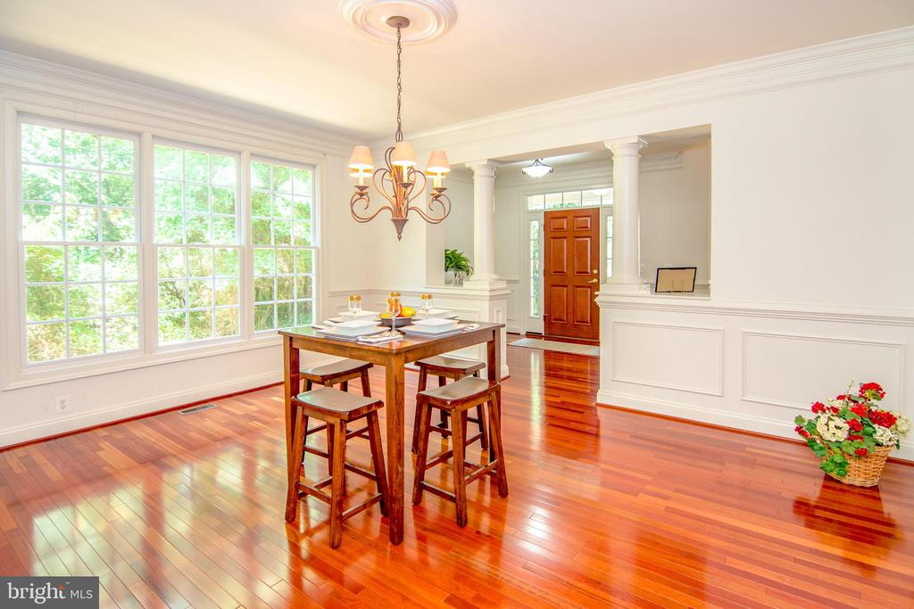 Formal dining room with view of nature - 2374 JAWED PL, VIENNA