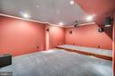Media room with platform - 10120 COUNSELMAN RD, POTOMAC