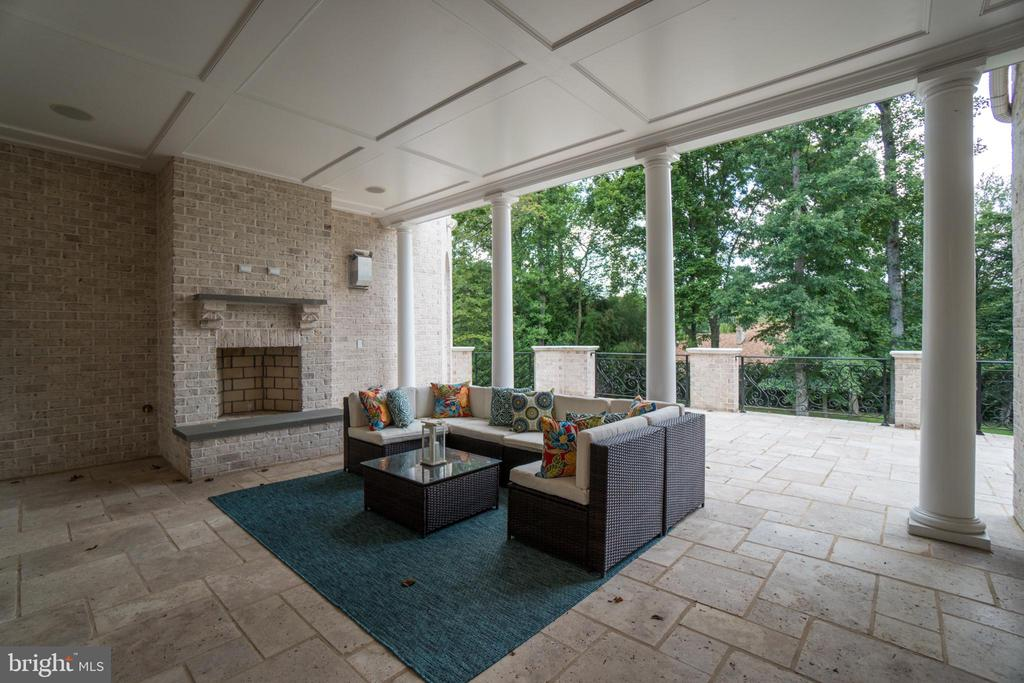 Wood burning fireplace at the Loggia - 10120 COUNSELMAN RD, POTOMAC