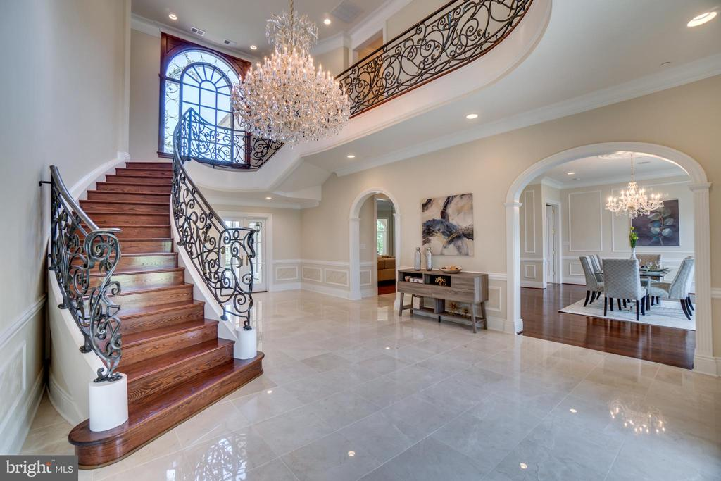 Two story marble foyer - 10120 COUNSELMAN RD, POTOMAC