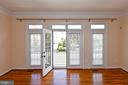 French door opens to a front balcony - 1850 BRENTHILL WAY, VIENNA