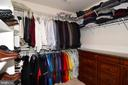 Huge walk-in closet. - 1850 BRENTHILL WAY, VIENNA