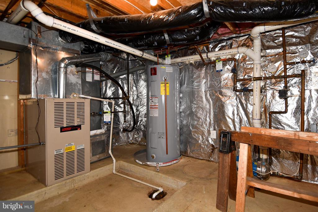 HVAC room off garage. - 1850 BRENTHILL WAY, VIENNA