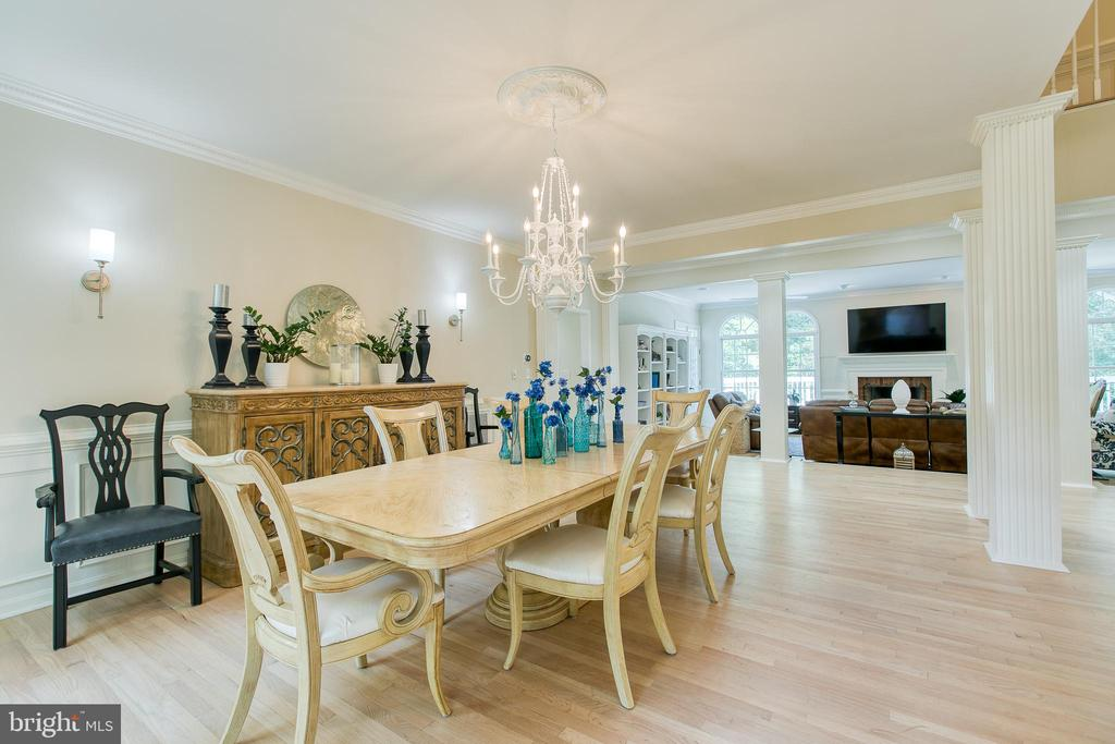 Formal dining opens up to family living room - 27 MERIDAN LN, STAFFORD