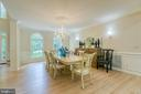 Formal dining with crown molding - 27 MERIDAN LN, STAFFORD