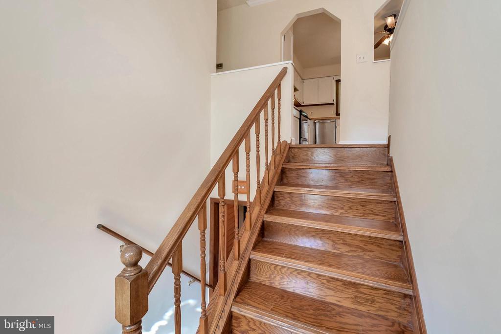 stairs to lower level - 10620 HOLLEYBROOKE DR, SPOTSYLVANIA