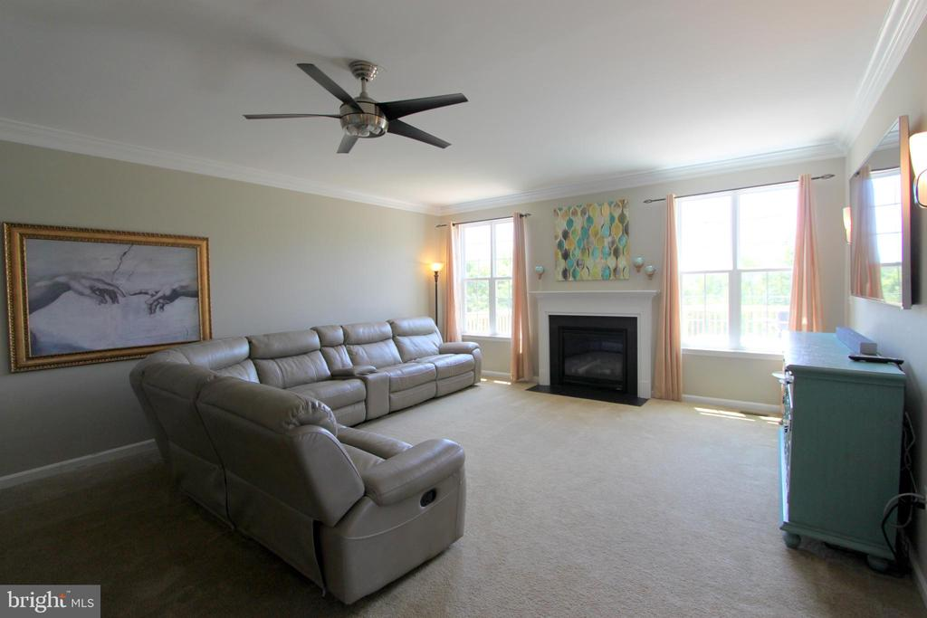 Family Room with gas fireplace - 16901 EVENING STAR DR, ROUND HILL