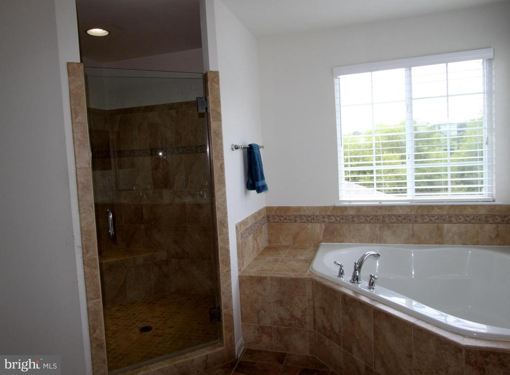 Upgraded Master Bath, dual sink vanity - 16901 EVENING STAR DR, ROUND HILL