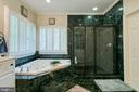 Master bath soaking tub and separate shower - 27 MERIDAN LN, STAFFORD