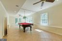 Lower level game room-french doors to pool - 27 MERIDAN LN, STAFFORD
