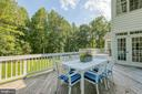 Oversized deck  with french door access to home - 27 MERIDAN LN, STAFFORD