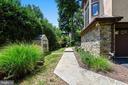 Front flagstone walkway! - 9919 MACARTHUR BLVD, BETHESDA