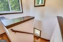 Stairs to loft office! - 9919 MACARTHUR BLVD, BETHESDA