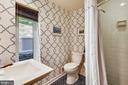 Main level full bathroom! - 9919 MACARTHUR BLVD, BETHESDA