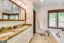 Completely renovated master bathroom! - 9919 MACARTHUR BLVD, BETHESDA