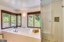 Master bedroom jet tub and steam shower! - 9919 MACARTHUR BLVD, BETHESDA