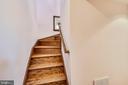 Wood stairs to Loft! - 9919 MACARTHUR BLVD, BETHESDA