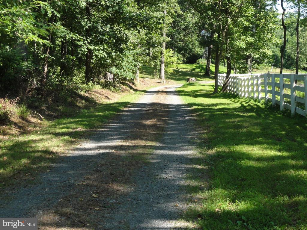 Driveway leading to the estate home! - 38699 OLD WHEATLAND RD, WATERFORD
