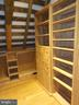 Master bedroom walk-in closets & built-in shelving - 38699 OLD WHEATLAND RD, WATERFORD
