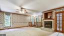 Large master bedroom with gas fireplace - 8907 CHRISTINE PL, MANASSAS