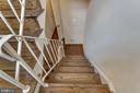 Staircase to Lower Level - 3324 BRECKENRIDGE CT, ANNANDALE