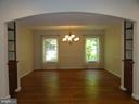 Dining room with built-in cabinets and shelves - 38699 OLD WHEATLAND RD, WATERFORD