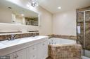 Updated Master Bathroom - 8861 ASHGROVE HOUSE LN, VIENNA