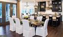 Dining area, kitchen and door to rear porch - 40999 SPANGLEGRASS CT, ALDIE