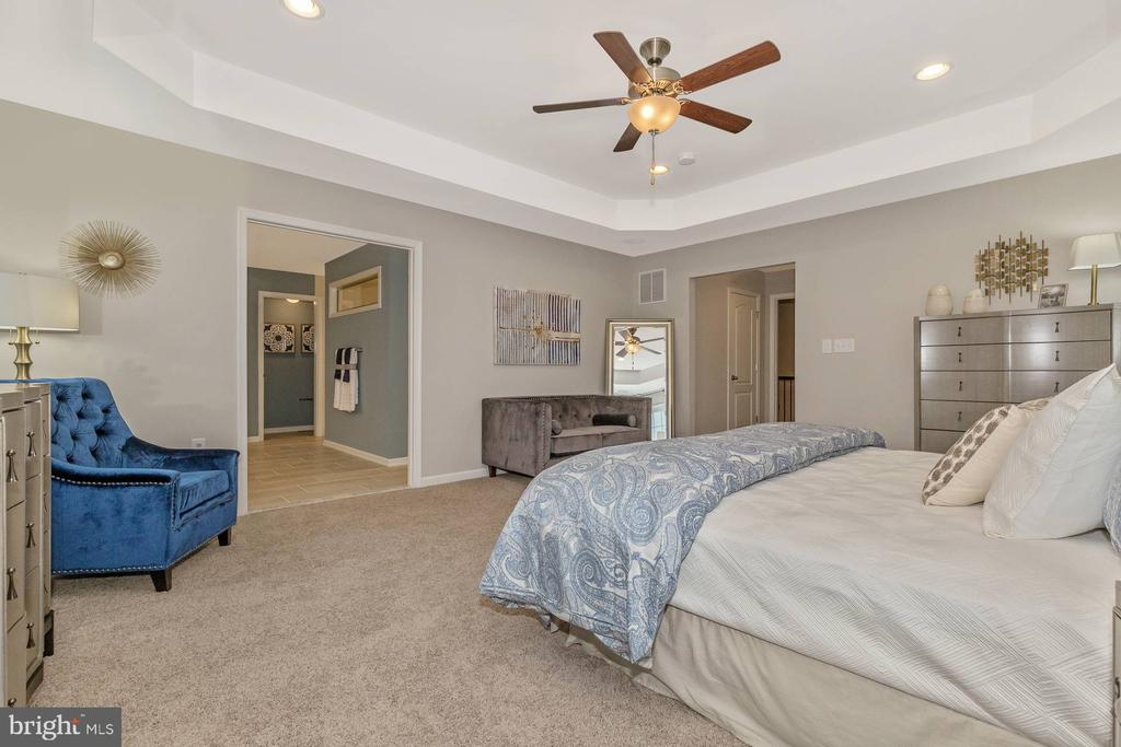 Owners Bedroom with optional Tray Ceiling - 523 ISAAC RUSSELL, NEW MARKET