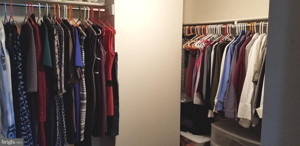 Large Walk-In Closet - hanging and shelves above - 1001 N VERMONT ST #902, ARLINGTON