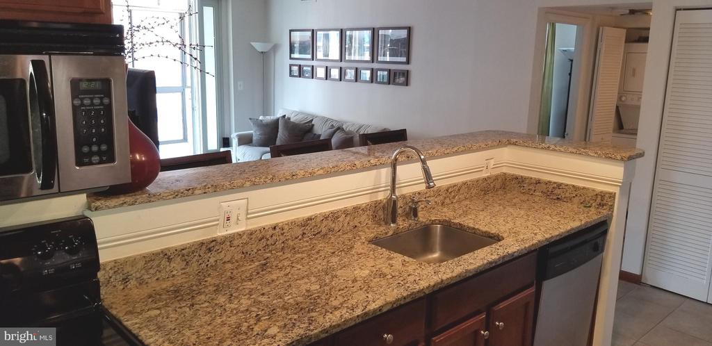Kitchen open to living w/bar top for entertaining - 1001 N VERMONT ST #902, ARLINGTON