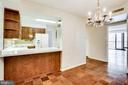 Open to Kitchen:  D.R./Fam.Rm./Ofc./Den/Hobby Rm. - 3800 FAIRFAX DR #314, ARLINGTON