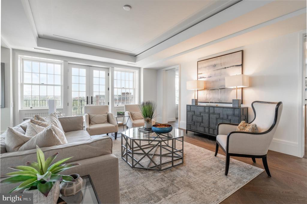 Living Area opens to Terrace - 2660 CONNECTICUT AVE NW #4C, WASHINGTON