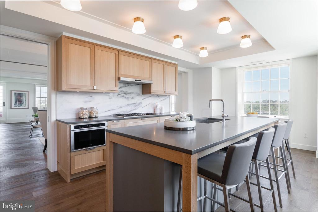 Kitchen features breakfast bar - 2660 CONNECTICUT AVE NW #4C, WASHINGTON