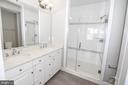 Master Bathroom with Dual Vanity & Seamless Shower - 3420 11TH ST S, ARLINGTON