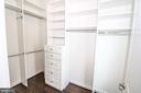 Master Walk In Closet with Custom Shelving - 3420 11TH ST S, ARLINGTON